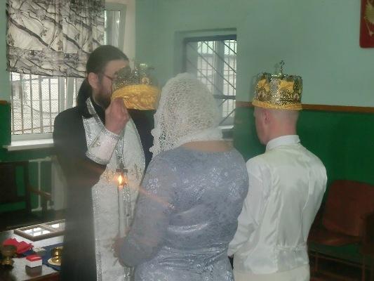В колонии строгого режима №4 совершено таинство венчания